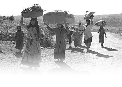 Galilee October 1948, Ethnically Cleansed Palestinians on their way to Lebanon