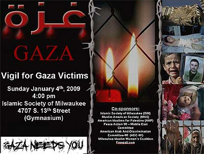 Feepali.com co-sponsors a vigil for the victims of Gaza (January 2009)